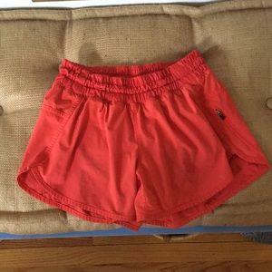 Lululemon red tracker shorts!